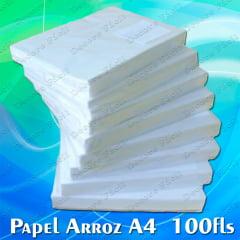 Papel de Arroz em Branco Tipo A C/ 100 folhas