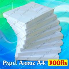 Papel de Arroz em Branco Tipo A c/ 300 folhas