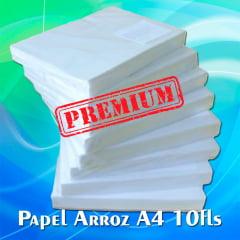 Papel de Arroz em Branco Tipo A - PREMIUM - c/ 10 folhas