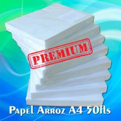 Papel de Arroz em Branco Tipo A - PREMIUM - c/ 50 folhas
